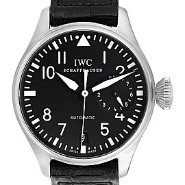 IWC Big Pilots 46mm Black Dial Automatic Steel Mens Watch IW500401