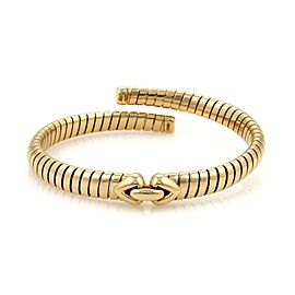 Bulgari 18K Yellow Gold Tubogas Hearts Open Flex Band Bracelet