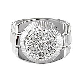 14K White Gold 1.25ctw Diamond Ring Size 9.25