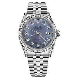 Rolex Datejust Stainless Steel with Tahitian Mother of Pearl Dial 31mm Unisex Watch