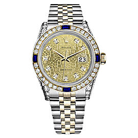 Rolex Datejust Champagne Gold Dial with Sapphire & Diamond 26mm Unisex Watch