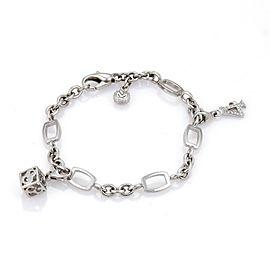 Franck Muller 18K White Gold & Diamond Talisman Bracelet