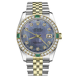 Rolex Datejust Stainless Steel / 18K Gold with Tahitian Mother of Pearl Dial 31mm Womens Watch