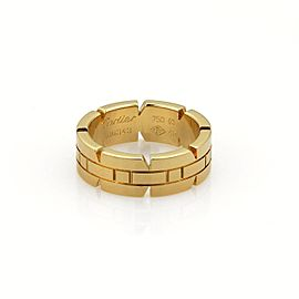 Cartier 18K Yellow Gold Tank Francaise Band Ring Size 4.5