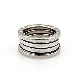 Bulgari B Zero-1 18K White Gold Band Ring Size 5.75