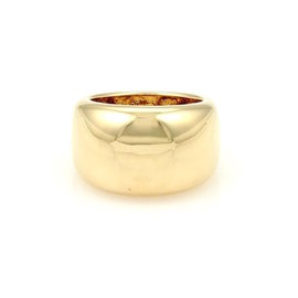 Cartier Nouvelle Vague 18K Yellow Gold Dome Ring Size 5.5