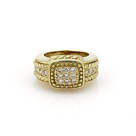 Judith Ripka 18K Yellow Gold 0.54ct. Diamond Bead Ring Size 5.5
