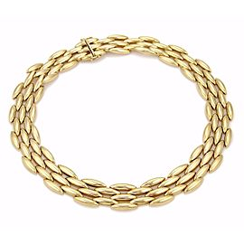 Cartier 18K Yellow Gold 5 Row Gentiane Link Collar Necklace