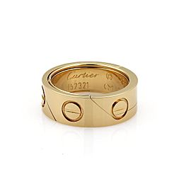 Cartier Astro Love 18K Yellow Gold Pendant Ring Size 6