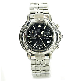 Tag Heuer 6000 CH1113-0 Stainless Steel & Black Dial Quartz 41mm Mens Watch