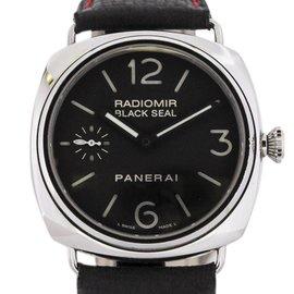 Panerai Radiomir PAM 183 Stainless Steel & Leather Black Dial Manual 45mm Mens Watch