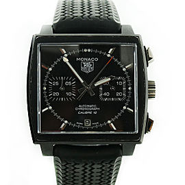 Tag Heuer Monaco CAW211M PVD Coated & Black Dial 39mm Mens Watch