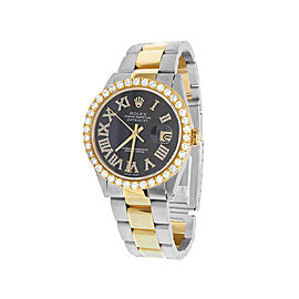 Rolex Datejust 1601 18K Yellow Gold & Stainless Steel Black Dial 36mm Mens Watch