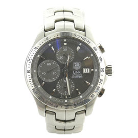 Tag Heuer Link CJF2115-0 Chrono Grey Dial Stainless Steel 42mm Mens Watch