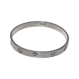 Cartier Love 18K White Gold Bracelet Size 19