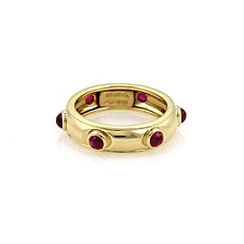 Tiffany & Co. 18K Yellow Gold with 0.60ct Cabochon Ruby Dome Ring Size 6