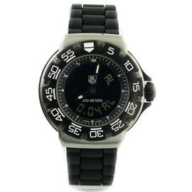 Tag Heuer Formula 1 CAC111D Stainless Steel with Rubber Band Black Dial Quartz 42mm Mens Watch