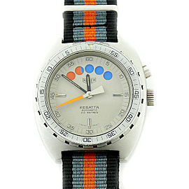 Tag Heuer Regatta 34.603 Stainless Steel / Canvas with Grey Dial Automatic 42mm Mens Watch