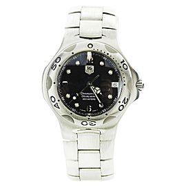 Tag Heuer Kirium Wl5111 Stainless Steel with Black Dial Automatic 40mm Mens Watch