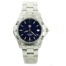 Tag Heuer Aquaracer WAF1113 Stainless Steel with Navy Dial Quartz 38mm Mens Watch