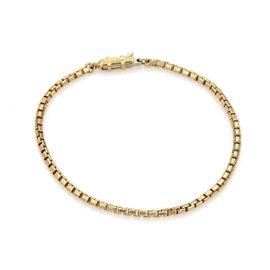 Cartier 18K Yellow Gold Box Link Chain Bracelet