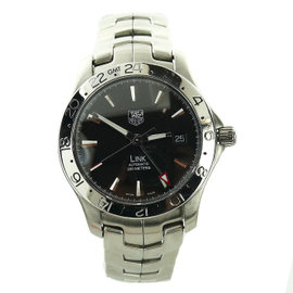 Tag Heuer Link WJF2116 Stainless Steel with Black Dial Quartz 38mm Mens Watch