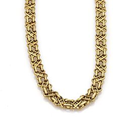 Tiffany & Co. 18K Yellow Gold X Design Vintage Necklace