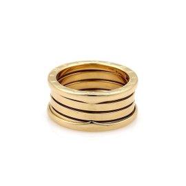 Bulgari B Zero-1 18K Yellow Gold Band Ring Size 7.75