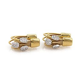 Marco Bicego 18K Yellow & White Gold with 0.40ct Diamond Multi Strand Hoop Earrings