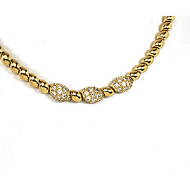 Van Cleef & Appels 18K Yellow Gold & 1ct Diamond Choker Necklace