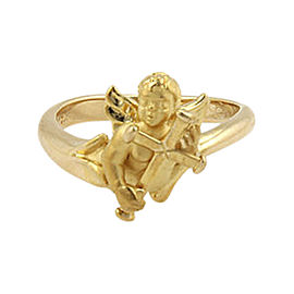 Carrera y Carrera 18K Yellow Gold Baby Angel Ring Size 4.5