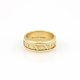 Tiffany & Co. 18K Yellow Gold Atlas Numerical Band Ring Size 5