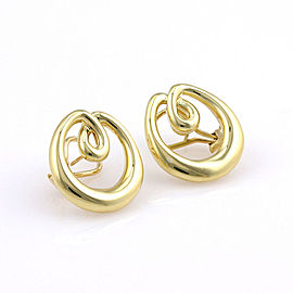 Tiffany & Co. 18K Yellow Gold Circular Designer Dress Earrings