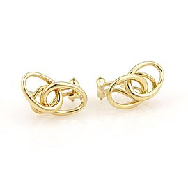 Tiffany & Co. Peretti 18K Yellow Gold Double Loop Earrings