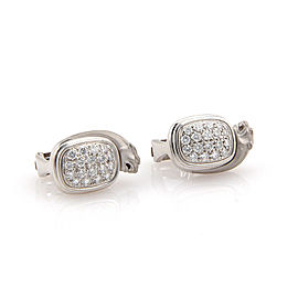 Carrera y Carrera 18K White Gold with 0.75ctw Diamond Panther Earrings