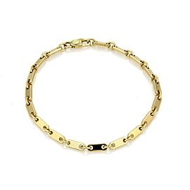 Cartier 18K Yellow Gold Flat Bar Link Bracelet