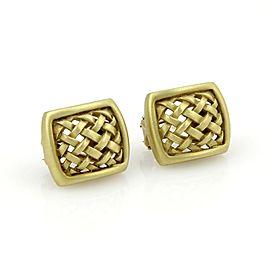 Kieselstein Cord 18K Yellow Gold Woven Open Design Stud Earrings