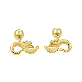 Carrera y Carrera 18K Yellow Gold Horse Ball Stud Cufflinks