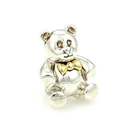 Vintage Tiffany & Co. 18K Yellow Gold & 925 Sterling Silver Bear Pin / Brooch