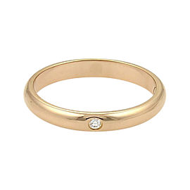 Cartier 18K Rose Gold with 0.02ct Diamond Wedding Band Ring Size 4