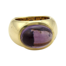 H.Stern 18K Yellow Gold with 13.03ct. Amethyst & Diamond Dome Ring Size 6.75