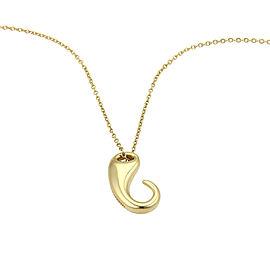 Tiffany & Co. Elsa Peretti 18K Yellow Gold Hook Design Pendant Necklace