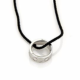 Cartier Love Astro 18K White Gold Puzzle Ring Pendant Cord Necklace