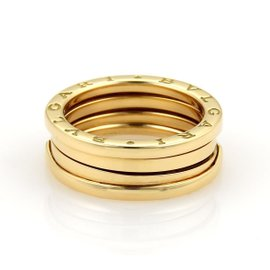 Bulgari Bvlgari B Zero-1 18K Yellow Gold Band Ring Size 6.5