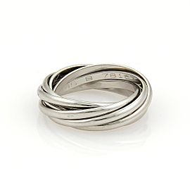 Cartier Platinum Trinity Rolling Bands Ring Size 5