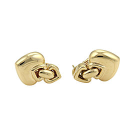 Bulgari Bvlgari 18K Yellow Gold Hearts Drop Earrings