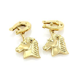 Tiffany & Co. 18k Yellow Gold Horse & Shoe Chain Cufflinks