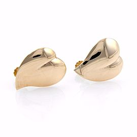 Tiffany & Co. 14K Yellow Gold Hearts Screw Back Vintage Earrings