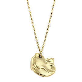 Tiffany & Co. Vintage 18K Yellow Gold Panther Head Pendant Necklace