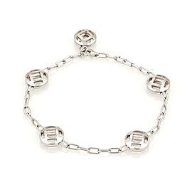 Cartier Pasha 5 Charms 18K White Gold Spartacus Chain Link Bracelet